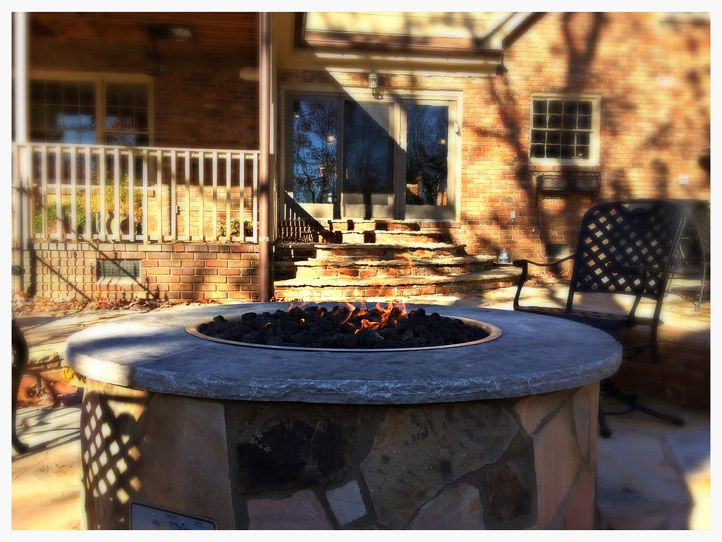 Custom Gas Fire Pit. Chattanooga, Tn.