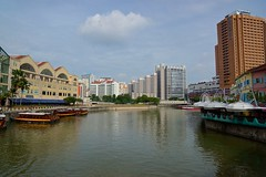 Singapore river in the morning at Clarke Quay