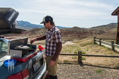 Breakfast with a View (BrendanMcGarry) Tags: 2016 brendanmcgarry highdesert johndayfossilbedsnationalmonument me oregon paintedhills wingtriporg