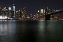 Brooklyn Bridge and NYC Skyline (jothish_gr) Tags: wtc worldtradecenter nyc newyork brookylnbridge manhattan longexposure