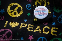 Peace (Nicky Highlander Photography) Tags: barbados still life stilllife colour colourful peace sign button quote happynewyear bag canvas black cloth no filter message mantra thoughts caribbean gift friends knick knacks things