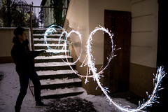 Sparkler (William Do Quoc) Tags: sparkler timberland sky freeze red sony ice window house icicle rust coin canon winter prague