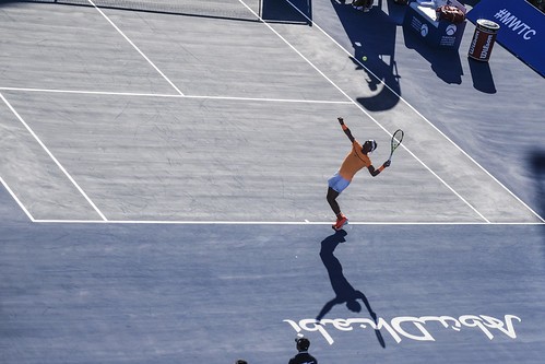 "Rafael Nadal Casts a shadow on the tennis court • <a style=""font-size:0.8em;"" href=""http://www.flickr.com/photos/125636673@N08/32002670885/"" target=""_blank"">View on Flickr</a>"
