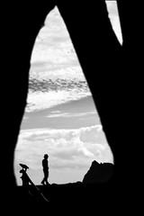 F_47A5094-BW-Canon 5DIII-Canon 70-300mm-May Lee 廖藹淳 (May-margy) Tags: maymargy bw 黑白 人像 剪影 海岸 小岩島 雲 街拍 streetviewphotographytaiwan 天馬行空鏡頭的異想世界 mylensandmyimagination 線條造型與光影 linesformandlightandshadows 心象意象與影像 naturalcoincidencethrumylens 台東縣 台灣 中華民國 taiwan repofchina humaningeometry f47a5094bw portrait silhouette seashore islet blur bokeh 模糊 散景 脈動 motion taitungcounty canon5diii canon70300mm maylee廖藹淳