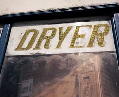 Dryer (ADMurr) Tags: la sign text gold paint handpainted storefront alligatored lettering crazed mamiya 7 80mm lens kodak ektar