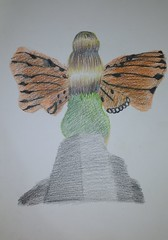 Fada - Projeto - Vista Traseira (EviLNooB1) Tags: fada fantasia asas mulher loira vestido pedra sentada fey fantasy wings woman blonde stone sitted traseira back project