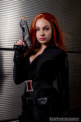 Black Widow (dgwphotography) Tags: blackwidow cosplay nycc nycc2016 newyorkcomiccon marvel marvelcomics 50mmf18g nikond600 nikoncls portrait