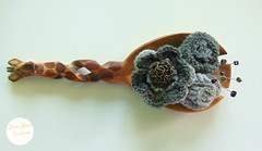 Blue Moon Unique Fashion (bluemoonuniquefashion) Tags: gray brooch brooches crochet crocheted winter flower flowers beads wire detail pin romantic retro handmade