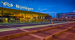 Station Nijmegen at the blue hour