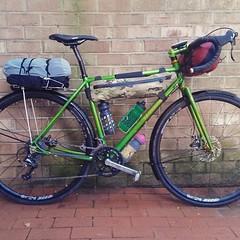 Re-gram from @betepakkenpetebakken loaded and ready to roll! #weavercycleworks #custombicycles #steelisreal