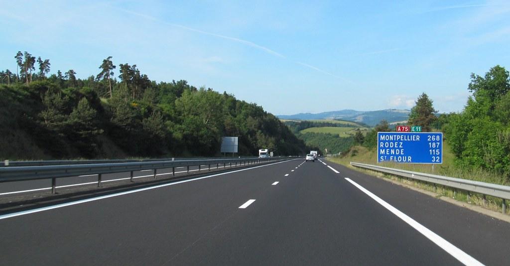 A75 56 European Roads Tags France St De Central F Flour