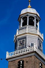 Kerk in Lemmer (Encarta2) Tags: canon blauw toren mooi wit 70200 kerk f28 lemmer weer kerktoren