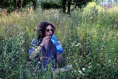 Time to get hydrated (Tereza echov) Tags: boy brown nature water grass festival hair prague drink prag praha praga teen fest wtaer lahoviky