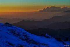 One beautiful evening at Prashar (Sougata2013) Tags: winter india mountain snow cold nature colors landscape hill january layers mandi hilltop guesthouse himachalpradesh nikond3200 2015 himalayanrange dhauladhar dhauladharrange prashar prasharlake