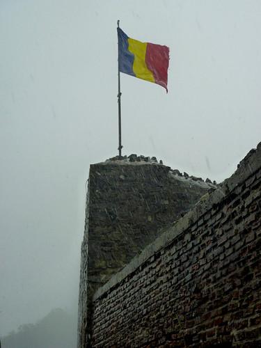 Poienarii citadel thunderstorm
