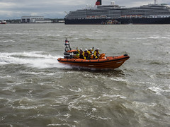 RLNI having fun on the Mersey. (jtokarz2003) Tags: liverpool river boats ship queen lifeboat rib mersey rlni