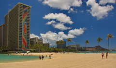 Hilton Hawaiian Village (ArmyJacket) Tags: vacation beach hawaii hotel waikiki oahu landmark tourist diamondhead destination honolulu waikikibeach rainbowtower hawaiianisland hiltonhawaiianvillagehilton