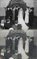 swisshm_redhook_20130224_017_cr_RIP_JWv1_splice_vert (CARE for Sandy) Tags: charity wedding blackandwhite lamp guests standing photoshop vintage groom bride candles veil transformation hurricane group hats altar tuxedo bow tophat restoration bouquet gown beforeandafter volunteer damaged tux photorestoration beforeafter c1 c1a hurricanesandy superstormsandy