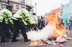 Anti Austerity, London 2015 (lpfjphotography) Tags: news london fire march big riot ben politics protest photojournalism vice police housesofparliament parliament bigben bonfire civil anarchy times anti unrest metropolitan viiphoto 2015 thetimes austerity