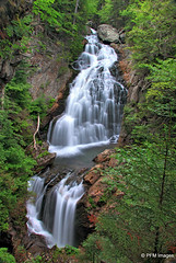 Crystal Cascade Falls (pandt) Tags: new white mountain green water forest canon landscape eos waterfall crystal outdoor scenic newengland nh hampshire glen national dslr cascade mbpictures t1i