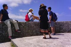 Shuri Castle Tourist. (shootlighter) Tags: street people castle japan candid tourist wearables clip okinawa narrative shuri narrativeclip