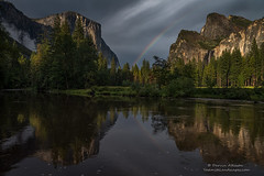 Lucky Rainbow - Yosemite National Park (Darvin Atkeson) Tags: mountains fall forest river waterfall nationalpark nevada merced calm falls sierra pines yosemite granite halfdome oaks elcapitan monolith towering darvin atkeson darv lynneal yosemitelandscapescom
