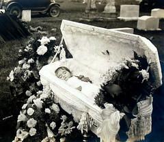 Graveside (Midnight Believer) Tags: coffin casket death funeral postmortem corpse cemetery graveyard graveside morbid unknown retro 1920s burial