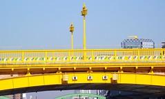 TOKYO SUMIDA RIVER BRIDGE (patrick555666751) Tags: tokyo sumida river bridge bridges ponts pont puente puentes riviere tokyosumidariverbridge yellow gelb jaune amarillo nihon nippon cipango jipangu japao giappone japo edo kanto honshu tokio toquio japon japan asie est east asia brucke
