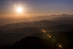Magic flare (Christian Bettin) Tags: mountain mountains alps alpi montegrappa italy italia sun sunset sunlight flare dolomiti dolomities nikon 1500 f11 iso100 70mm veneto 70200 d610