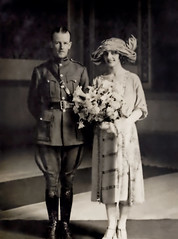 Emmet Dalton and Alice Shannon on the day of their wedding in October 1922 at Clarence Hall in the Imperial Hotel, Cork retouched (Old Irish Photo Rescue) Tags: emmet dalton irish soldier film producer british army first world war major ireland dublin brigade guerrilla republican michael collins treaty negotiating london military liaison officer general protreaty national ardmore studios wicklow louis elliman nationalist militia ira director intelligence angloirish provisional government free state bray blue max spy who came cold lion winter audrey nuala glasnevin cemetery alice shannon