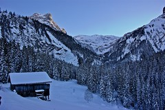 The isolated hut ... (somabiswas) Tags: hut isolated switzerland lauenen gstaad white saariysqualitypictures