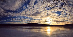 2017_0114Sunny-But-Cold-Pano0004 (maineman152 (Lou)) Tags: panorama west pond westpond lake frozen frozenover frozenlake ice icecovered icedoverpond icedover winter winterweather coldweather coldwinterweather cloudysky mackerelsky clouds sky wintersky nature naturephoto naturephotography landscape landscapephoto landscapephotography january maine