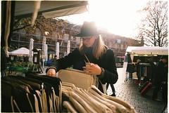 Berlin (habologique) Tags: berlin germany market deutschland boy style hat rings coat sahlep drink sunshine sunflare sunny outdoor film analog analogue 35mm fuji superia iso200 nikonf3 nikkor 50mm prime lens portrait glasses