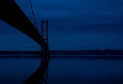 Hull City of Culture Humber Bridge Night 3 (A>M>S) Tags: hullcityofculture hull humber humberbridge night river water reflection ams pentax