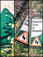 gefährlich (-BigM-) Tags: deutschland germany baden württemberg göppingen fils bigm achtung attention kurven hohenstaufen bürgerhölzle