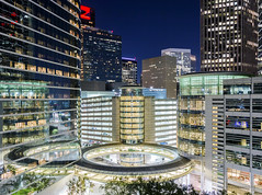 City Circles (RaulCano82) Tags: houston htx hou houstontx htown houstontexas houstonskyline skyline skyscrapers skyscraper night longexposure 70d canon raulcano circle nightlights citylights city cityscape spacecity landscape lights buildings 2017
