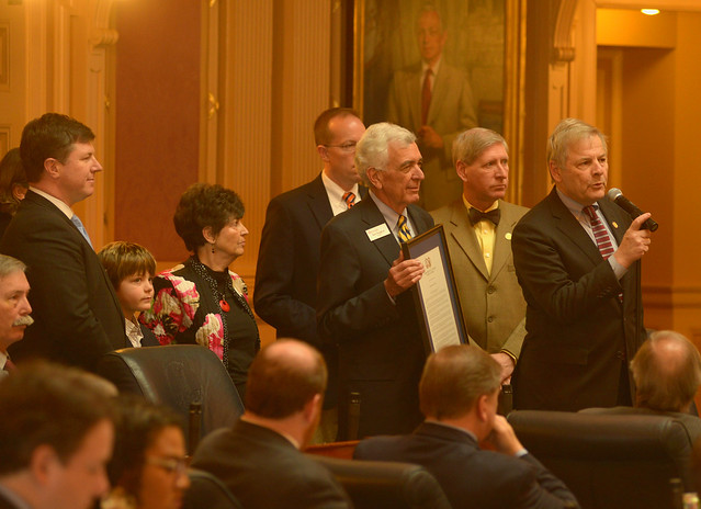 Rob Vaughan honored for 43 years of service