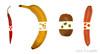 Vegetarian-Art [explored] (benno.dierauer) Tags: vegetarianart tabletop banane banana kiwi karotte peperoncini redcayenne carrot yellow red orange green grün rot gelb 70d