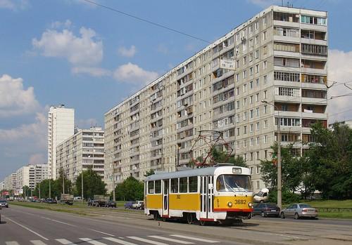 Moscow tram Tatra T3SU 3682