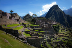 First Sight Macchu Picchu (kate willmer) Tags: ruins building architechture terraces stones mountains macchupicchu peru ancientmonument