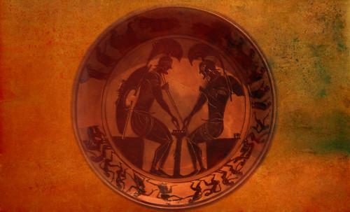 "Petteia - Ludus Latrunculorum  / Iconografía de las civilizaciones helenolatinas • <a style=""font-size:0.8em;"" href=""http://www.flickr.com/photos/30735181@N00/32481383696/"" target=""_blank"">View on Flickr</a>"