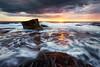 The Rush (Brian Bornstein) Tags: rocks northernbeaches ocean turimettabeach nsw sunburst brianbornstein sunrise northturimetta seascape reef canon6d turimetta clouds