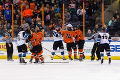 "Missouri Mavericks vs. Wichita Thunder, February 4, 2017, Silverstein Eye Centers Arena, Independence, Missouri.  Photo: John Howe / Howe Creative Photography • <a style=""font-size:0.8em;"" href=""http://www.flickr.com/photos/134016632@N02/32599596982/"" target=""_blank"">View on Flickr</a>"