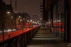 Red Lines (stein.anthony) Tags: city cityscape cityhighlight hafencity speicherstadt hamburg stadt nachtaufnahme langzeitbelichtung longexposure