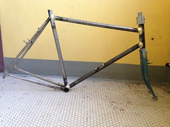 Longer long haul trucker; now with 640mm top tube and 675 front center (jimn) Tags: steel surly fillet 4130 lht brazed