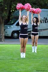 Cheerleaders (Jeff G Photo - 2m+ views! - jeffgphoto@outlook.com) Tags: cheerleaders cheerleader canarywharf canadaplace pompoms pearlizumitourseries pineapplecheerleaders canadaplacepark