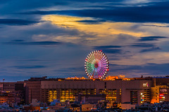 colorful wheel,Kaohsiung (Yi-Liang Lai) Tags: city longexposure light cloud wheel night clouds canon cityscape cloudy dusk taiwan kaohsiung  dreamworld  70300mm    farriswheel     nightscpae canon6d