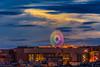 高雄夢時代摩天輪 colorful wheel,Kaohsiung (Yi-Liang Lai) Tags: city longexposure light cloud wheel night clouds canon cityscape cloudy dusk taiwan kaohsiung 台灣 dreamworld 高雄 70300mm 夜景 建築 摩天輪 farriswheel 晚霞 夜晚 傍晚 夢時代 nightscpae canon6d 胖白