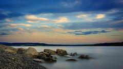 Mjslangs i (  ) Tags: longexposure sky lake norway clouds norge hamar mjsa hedmark helgya hoyandx400 fujifilmx100