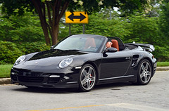 Porsche 911 Turbo Cabriolet (Thumpr455) Tags: auto black sc car june nikon automobile 911 southcarolina upstate voiture turbo german porsche greenville sportscar d800 cabriolet 997 flatsix 2015 carscoffee worldcars afnikkor80200mmf28d